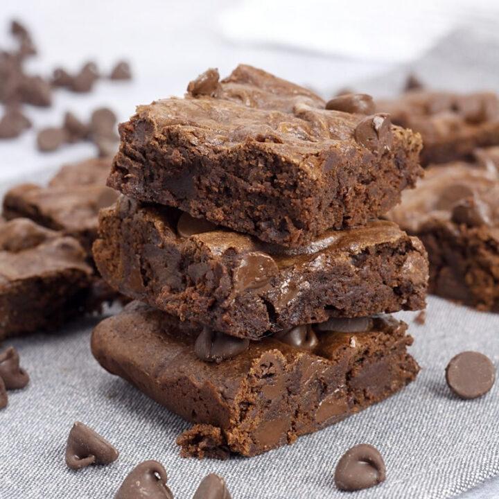 Small batch brownies recipe.