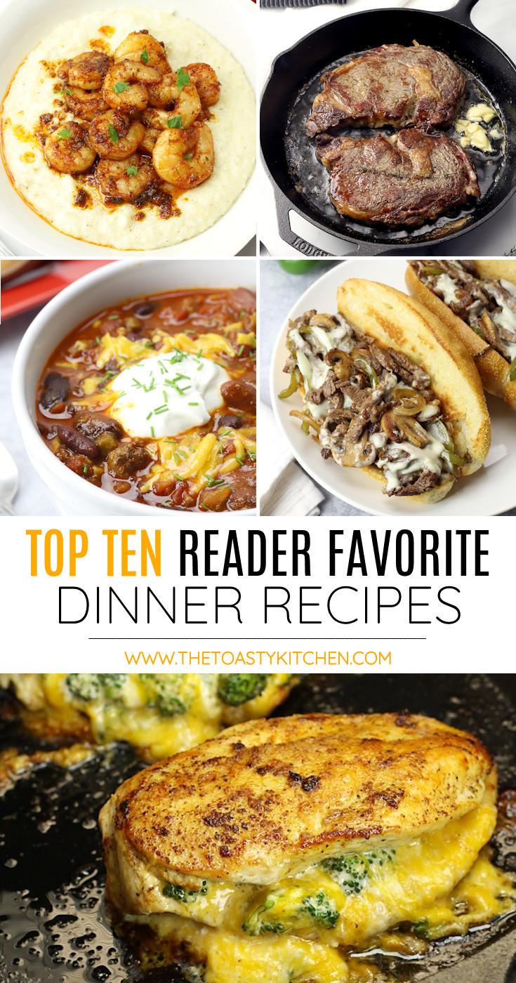Top ten reader favorite dinner recipes collage.