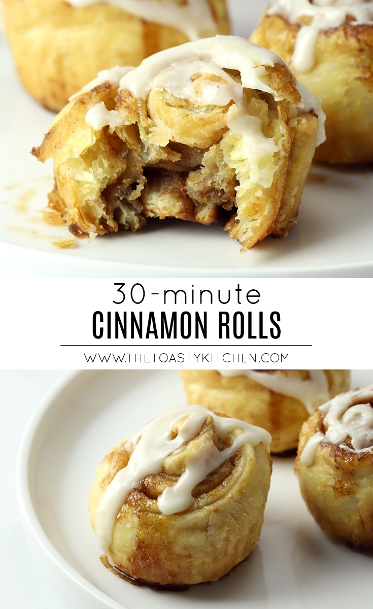 30 Minute Cinnamon Rolls by The Toasty Kitchen