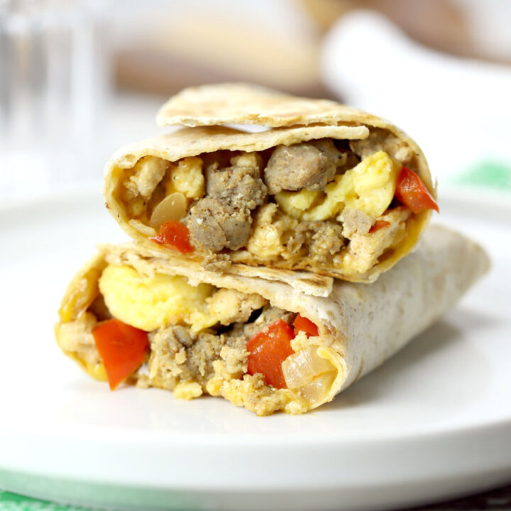 Freezer breakfast burritos recipe.