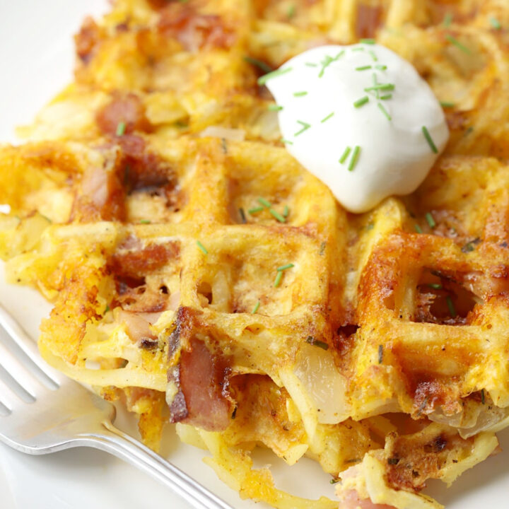 Hash brown waffles recipe.