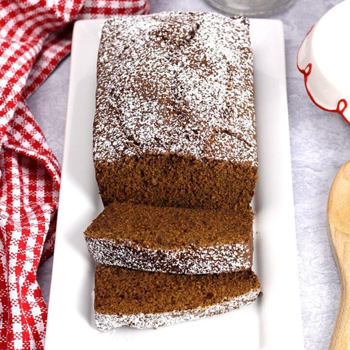Homemade gingerbread loaf recipe.