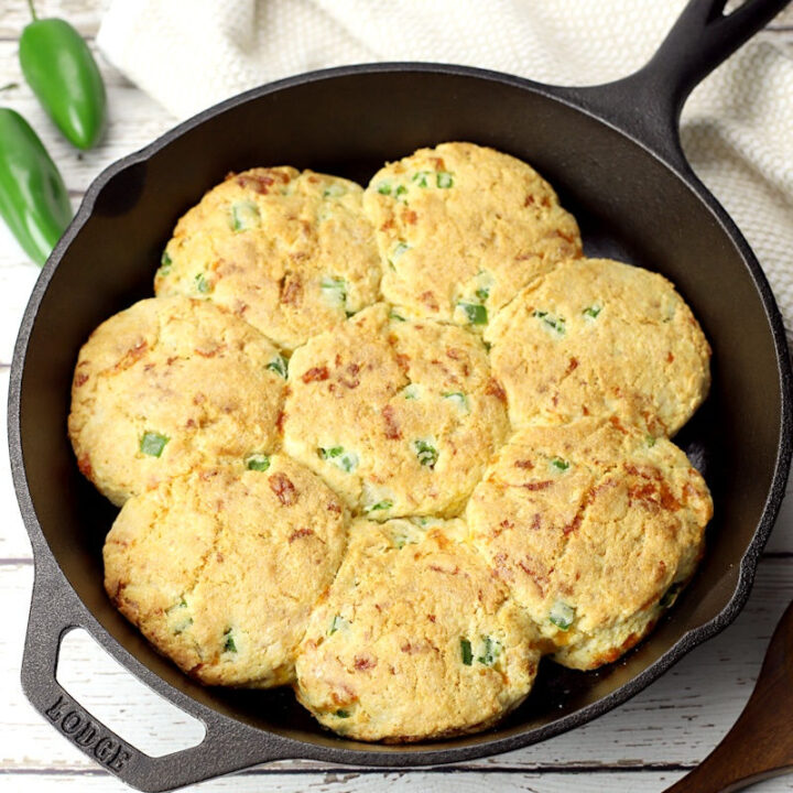 Jalapeno cheddar cornmeal biscuits recipe.