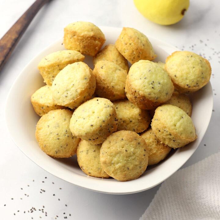 Lemon chia seed mini muffins recipe.