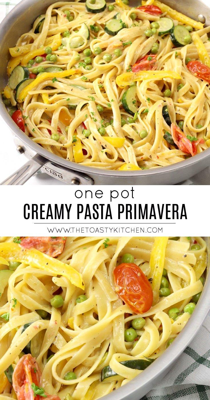One Pot Creamy Pasta Primavera by The Toasty Kitchen