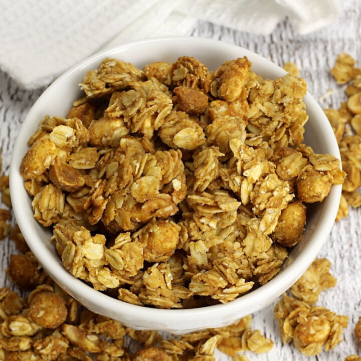 Peanut butter honey granola recipe.