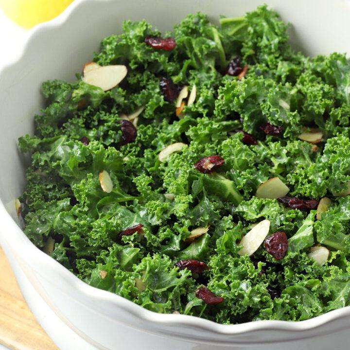 Kale cranberry salad recipe.