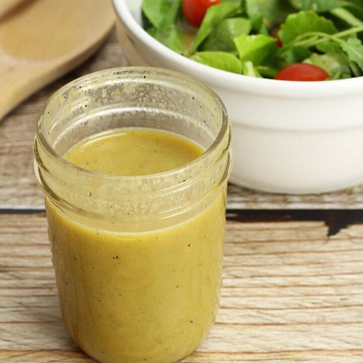 Light honey mustard salad dressing recipe.