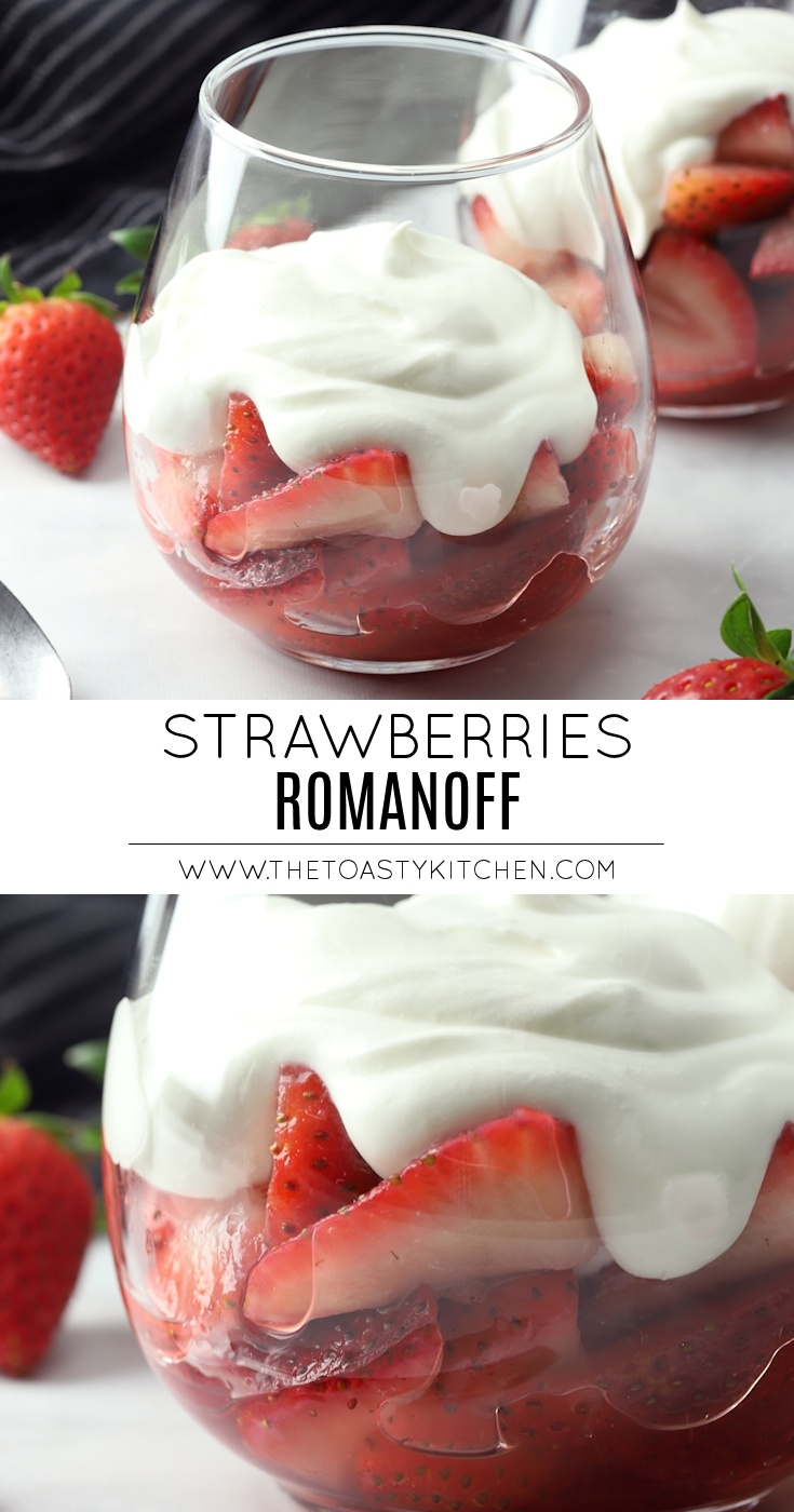 Strawberries Romanoff by The Toasty Kitchen