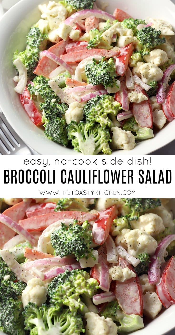 Broccoli cauliflower salad recipe.