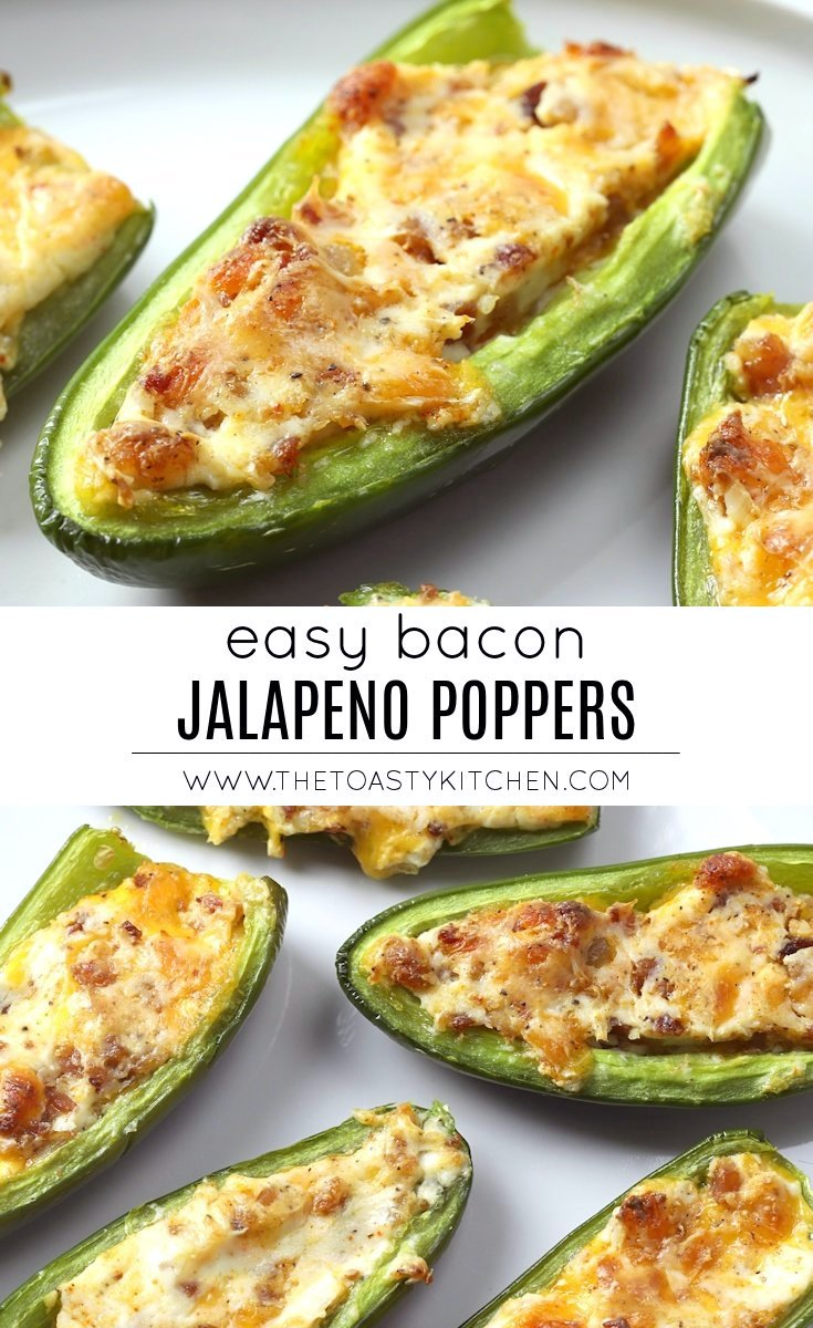 Bacon Jalapeño Poppers by The Toasty Kitchen