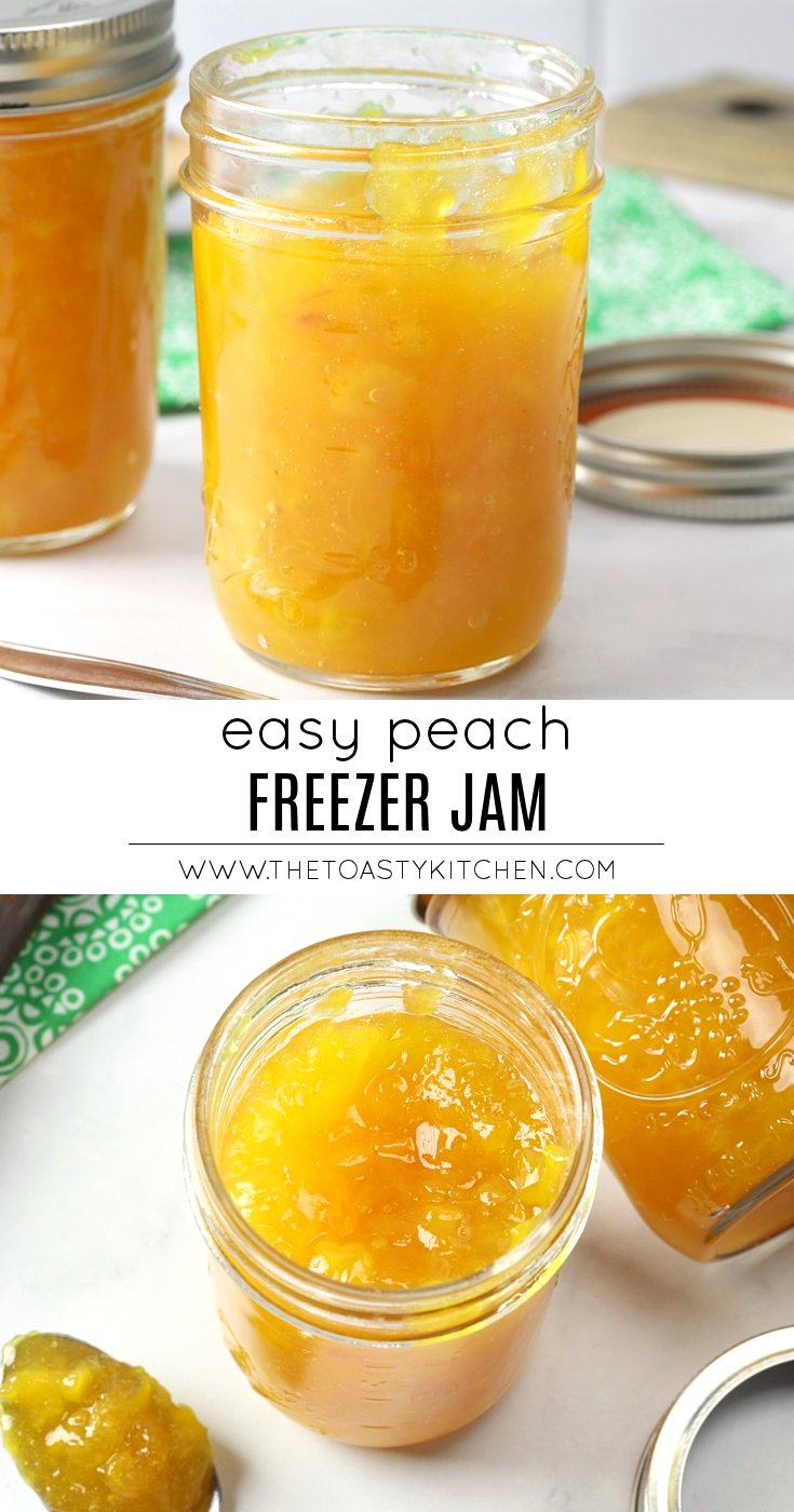 Peach Freezer Jam by The Toasty Kitchen