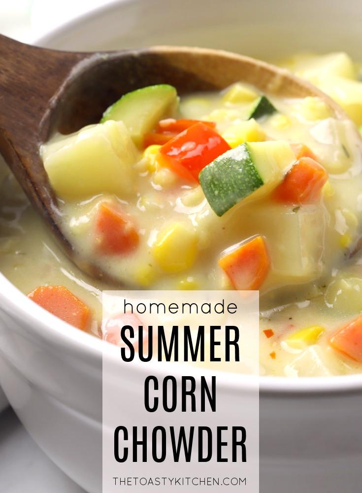 Summer corn chowder recipe.