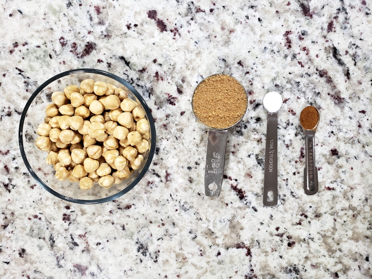Ingredients on a counter top,