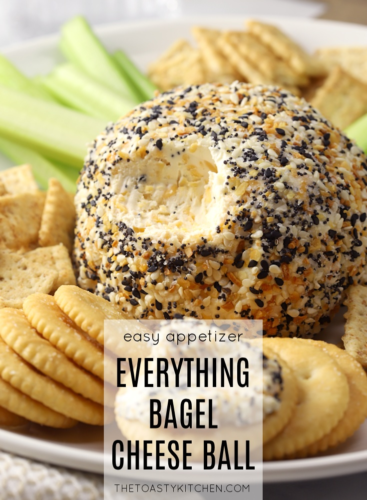 Everything Bagel Cheese Ball by The Toasty Kitchen