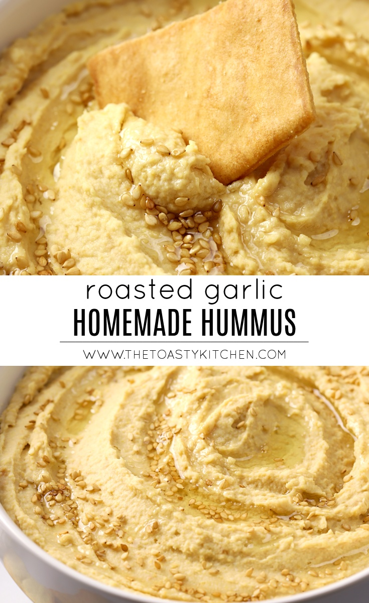 Roasted Garlic Hummus by The Toasty Kitchen