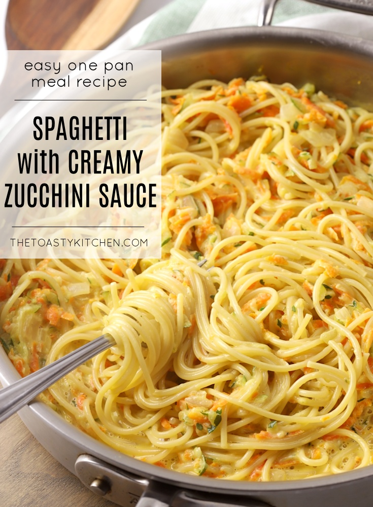 Spaghetti with Creamy Zucchini Sauce by The Toasty Kitchen