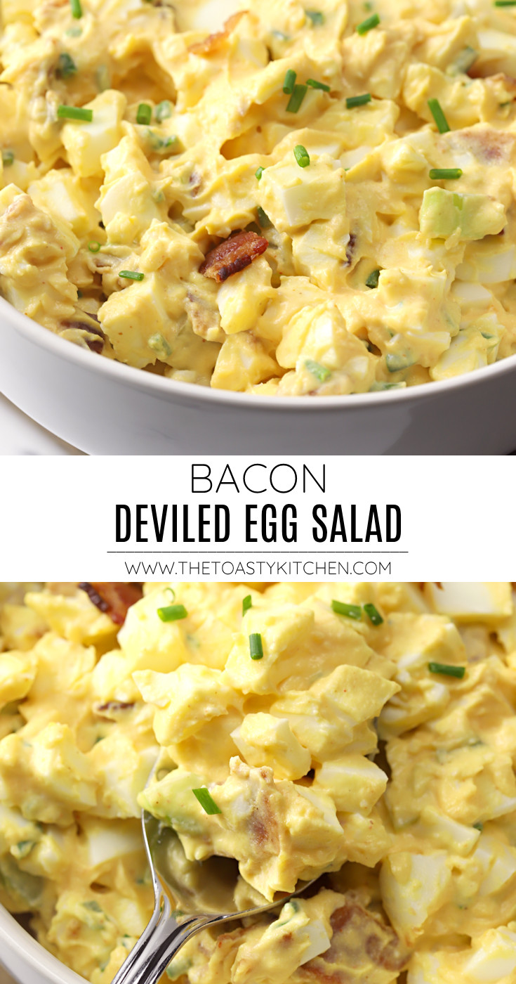 Bacon deviled egg salad recipe.