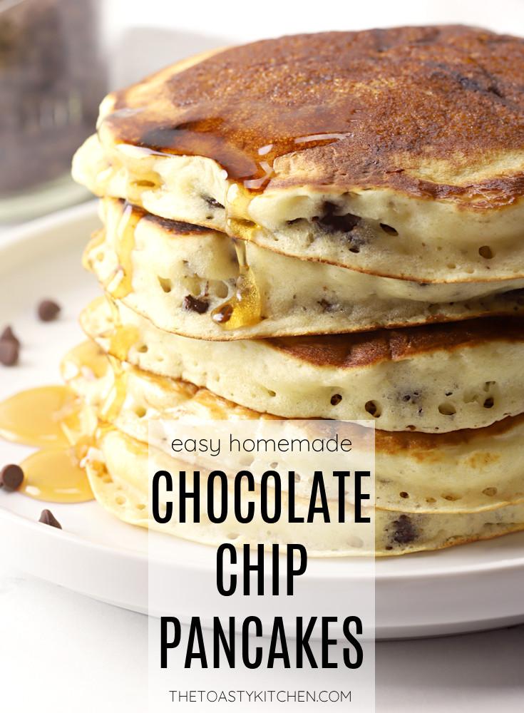 Chocolate chip pancakes recipe.