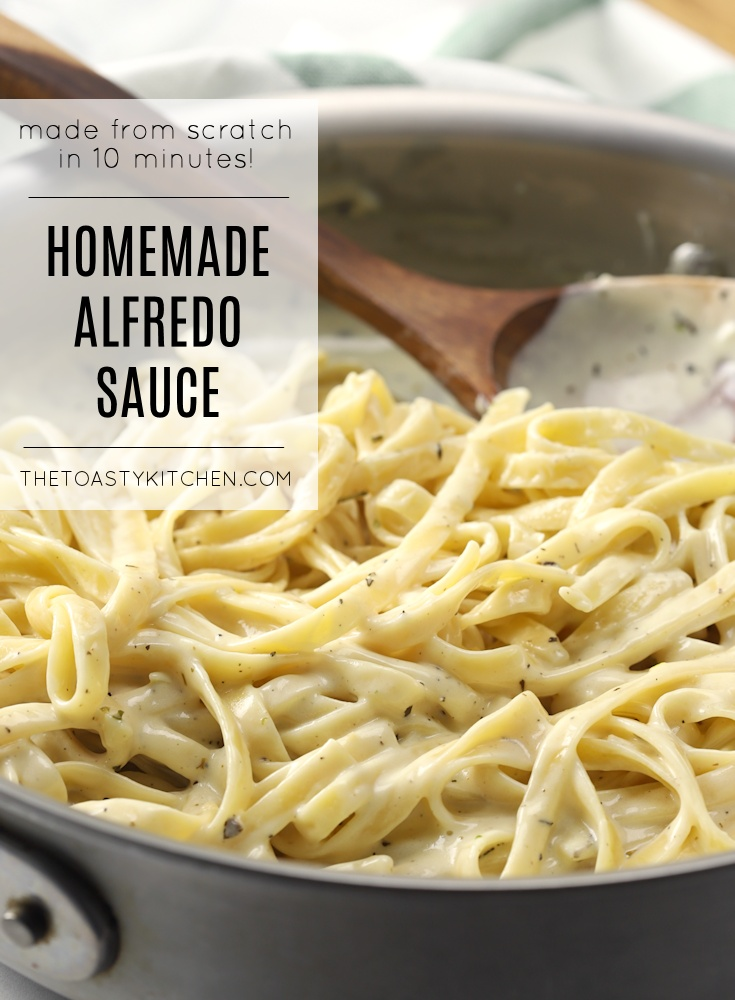 Easy homemade alfredo sauce recipe.
