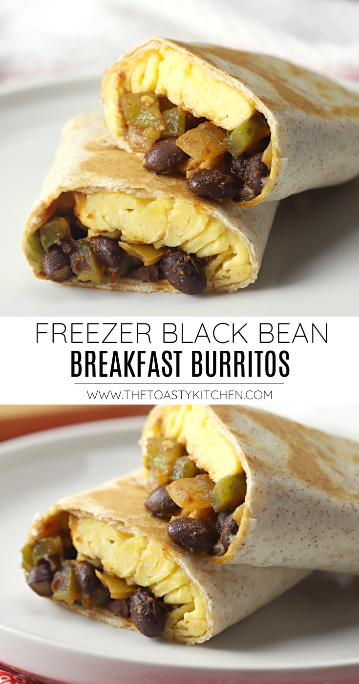 Freezer black bean breakfast burritos recipe.