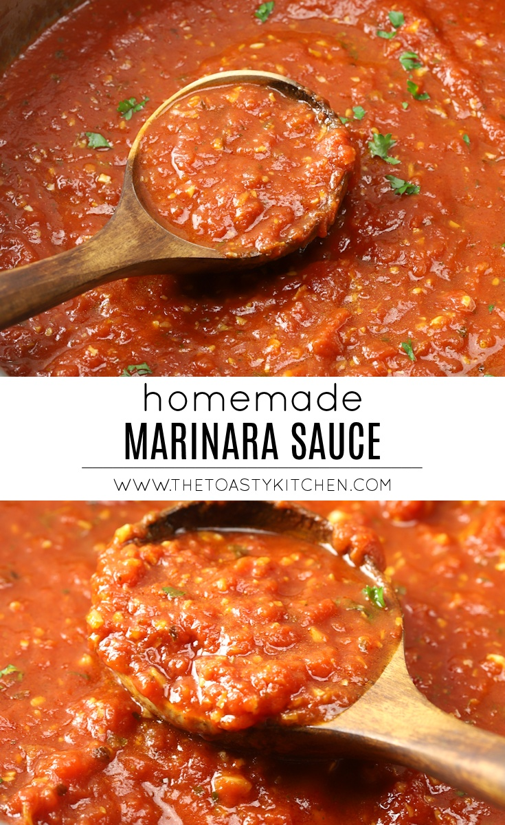 Homemade marinara sauce recipe.
