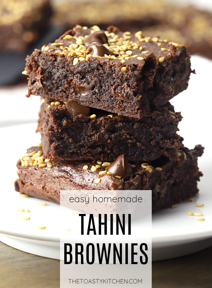 Tahini brownies recipe.