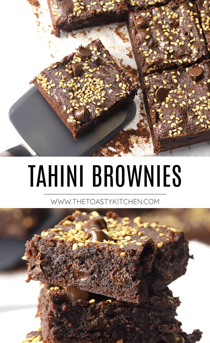 Tahini brownies recipe.
