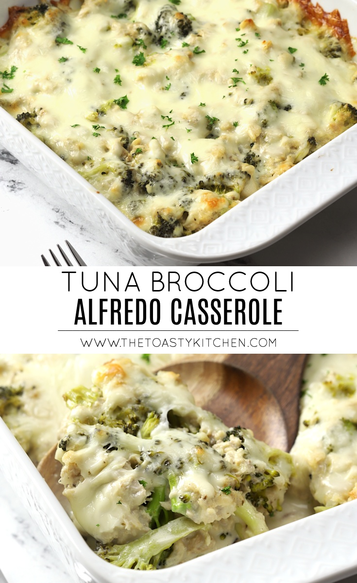 Tuna broccoli alfredo casserole recipe.