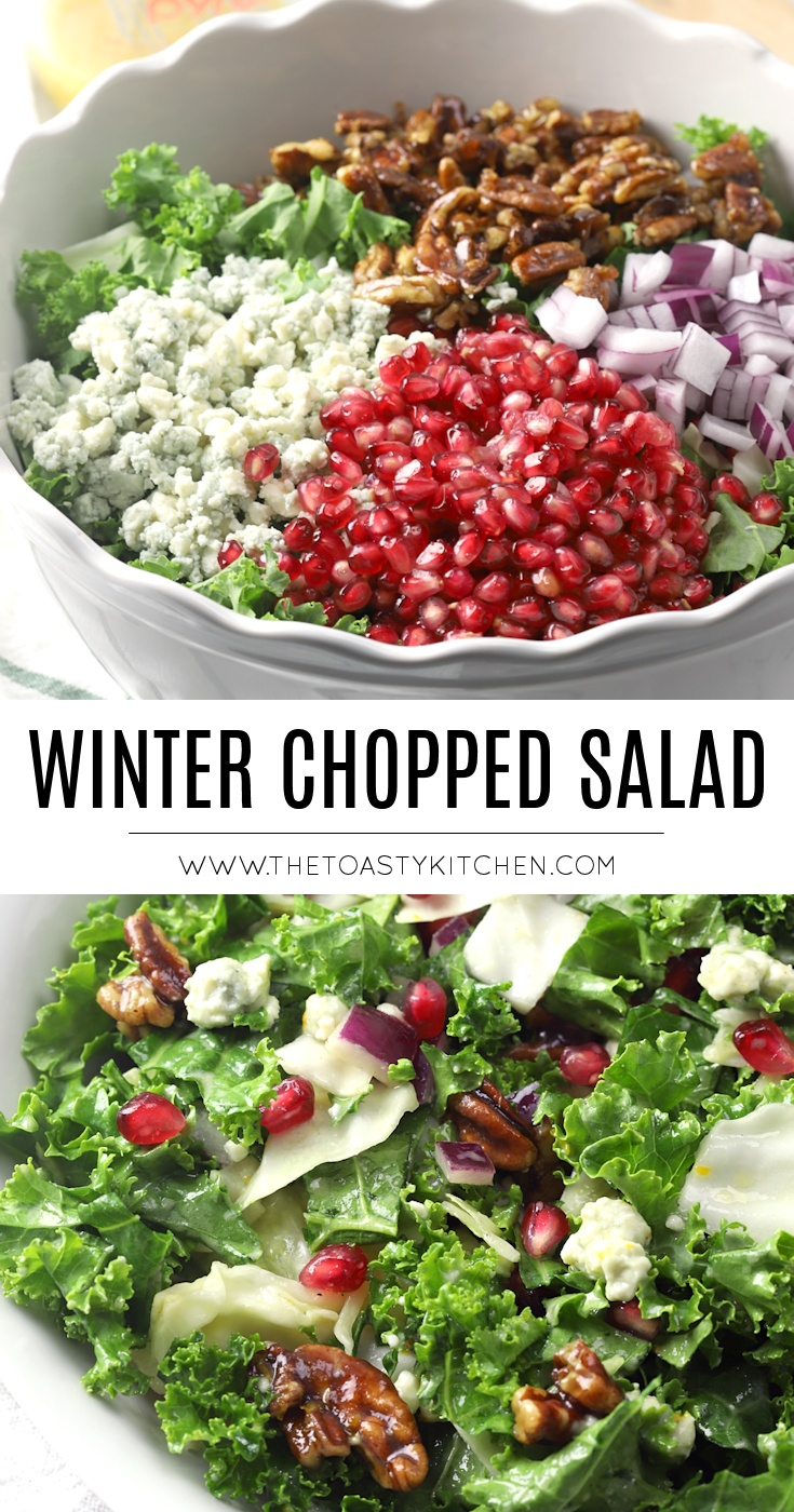Winter Chopped Salad by The Toasty Kitchen