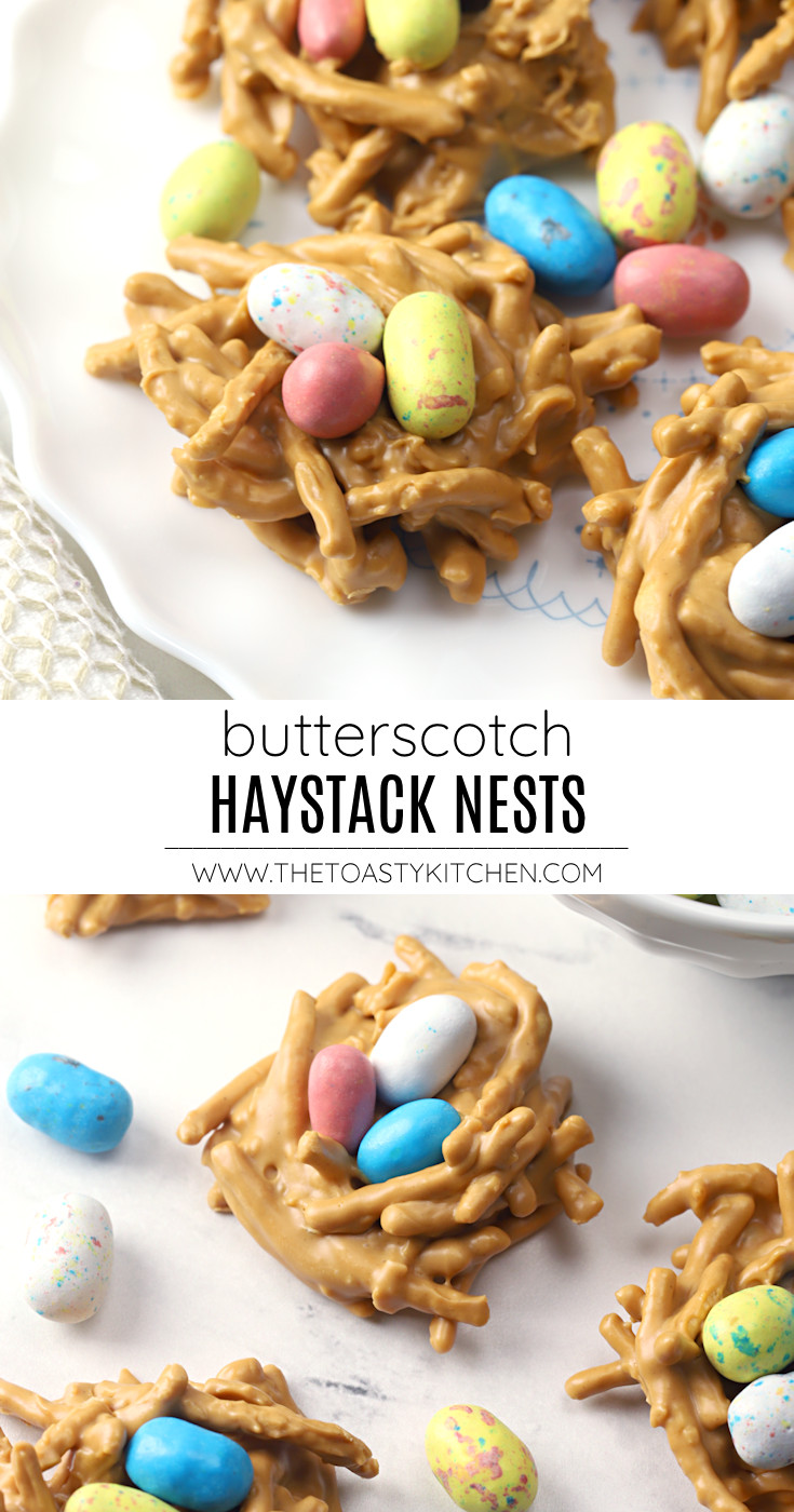 Butterscotch haystack nests recipe.
