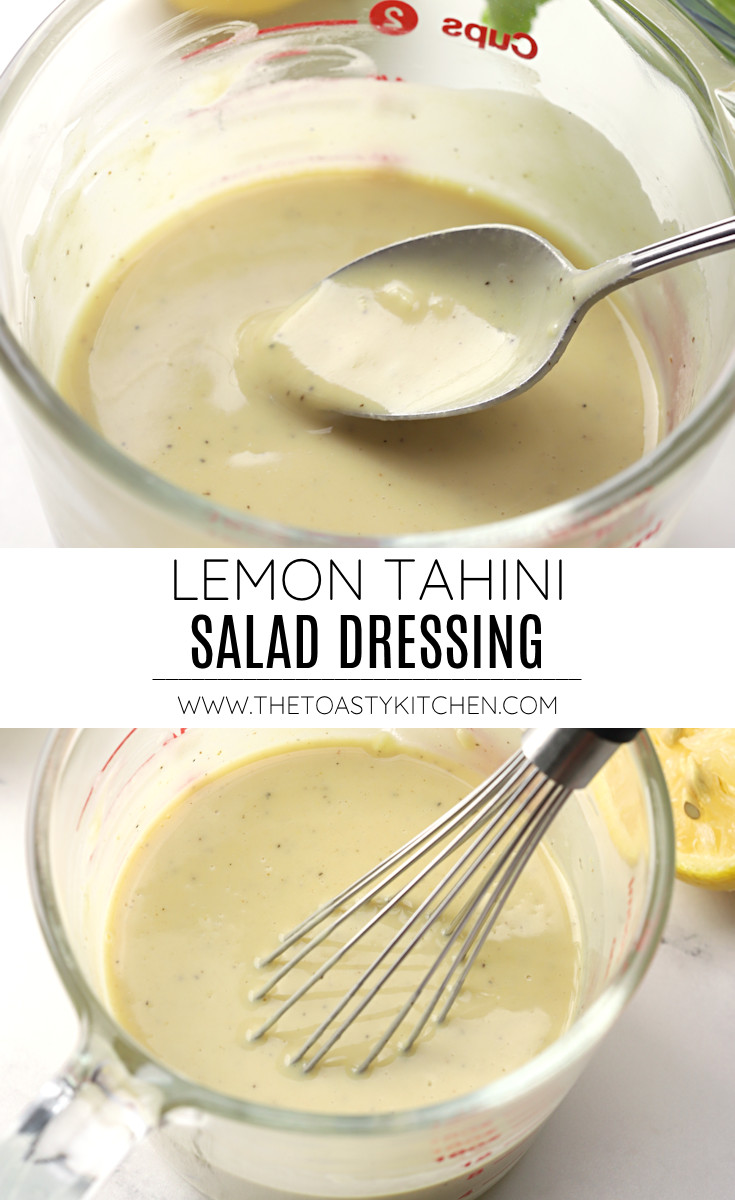 Lemon tahini salad dressing recipe.