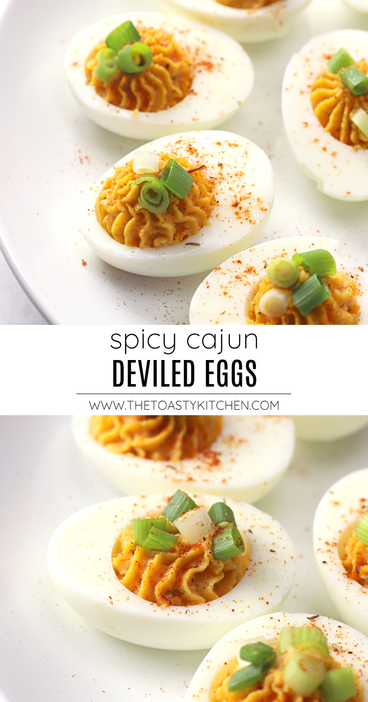 Spicy cajun deviled eggs recipe.