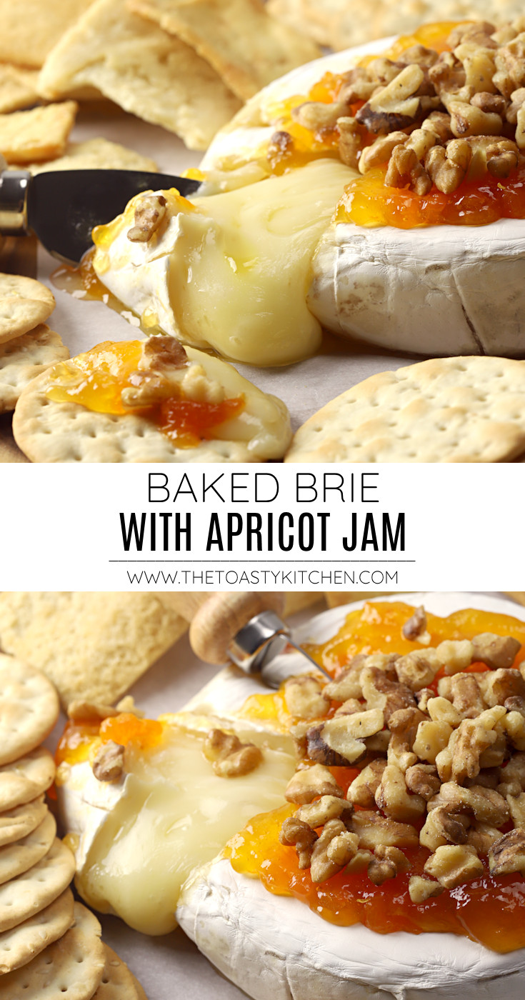 Baked brie with apricot jam recipe.