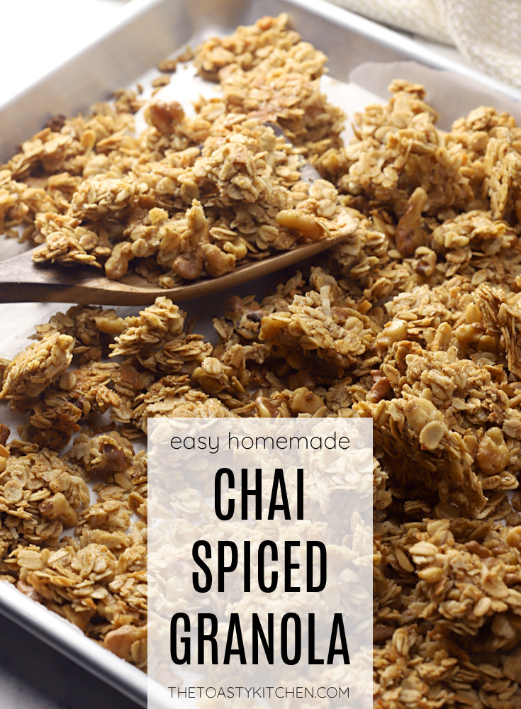 Chai spiced granola recipe.