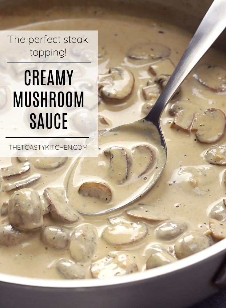 Creamy mushroom sauce recipe.