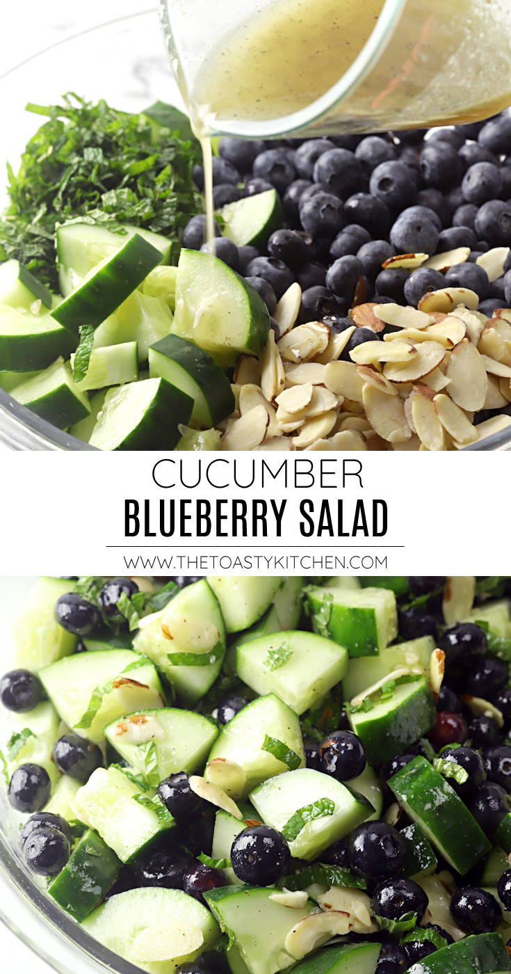 Cucumber blueberry salad recipe.