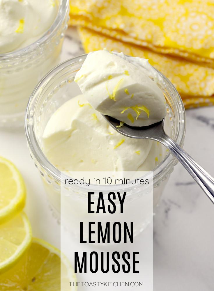 Easy lemon mousse recipe.