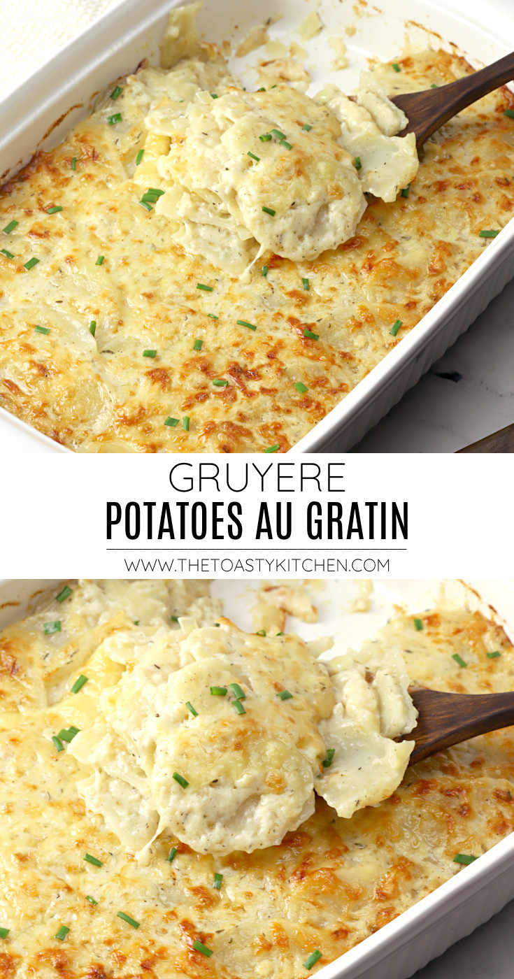 Gruyere potatoes au gratin recipe.