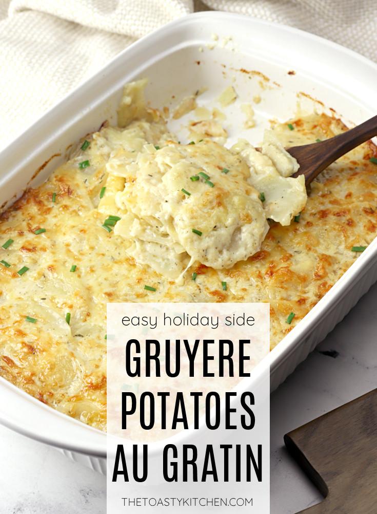 Gruyere potatoes au gratin recipe.