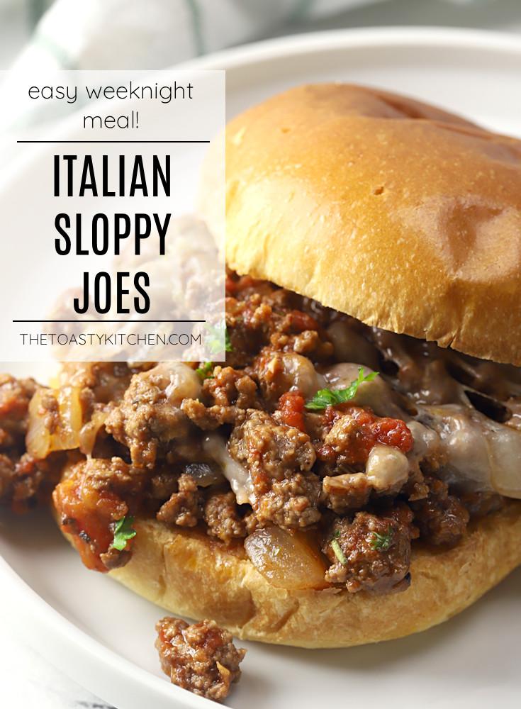 Italian sloppy joes recipe.