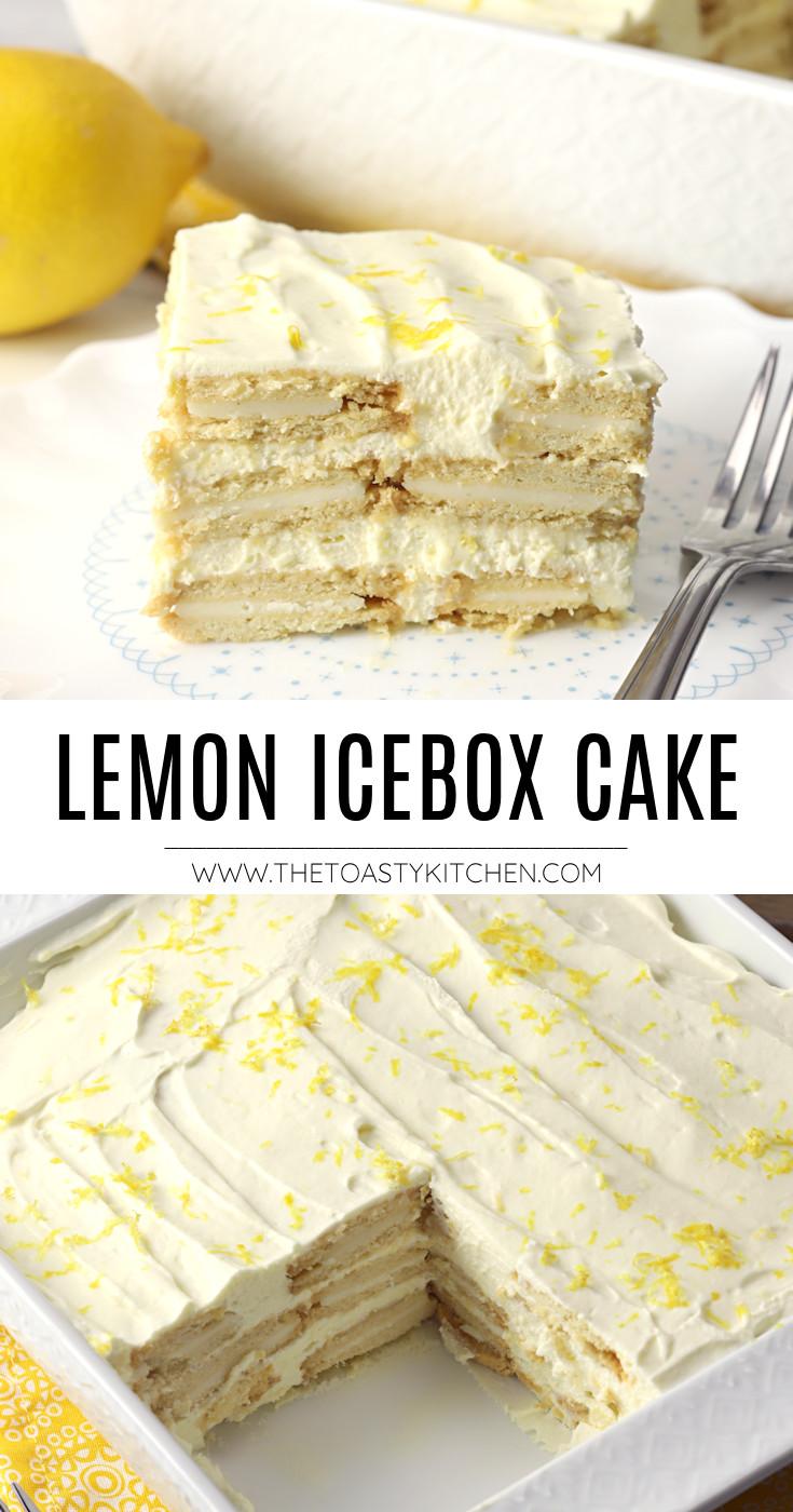 Lemon icebox cake recipe.