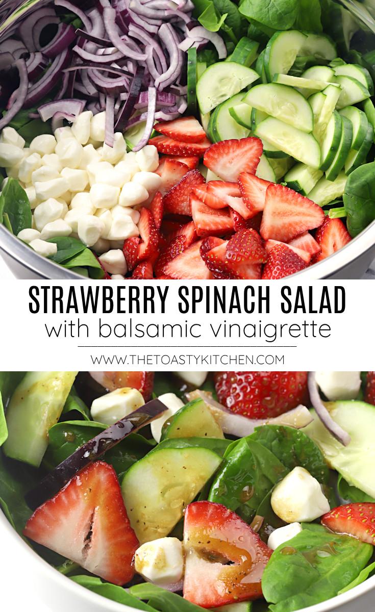 Strawberry spinach salad recipe.
