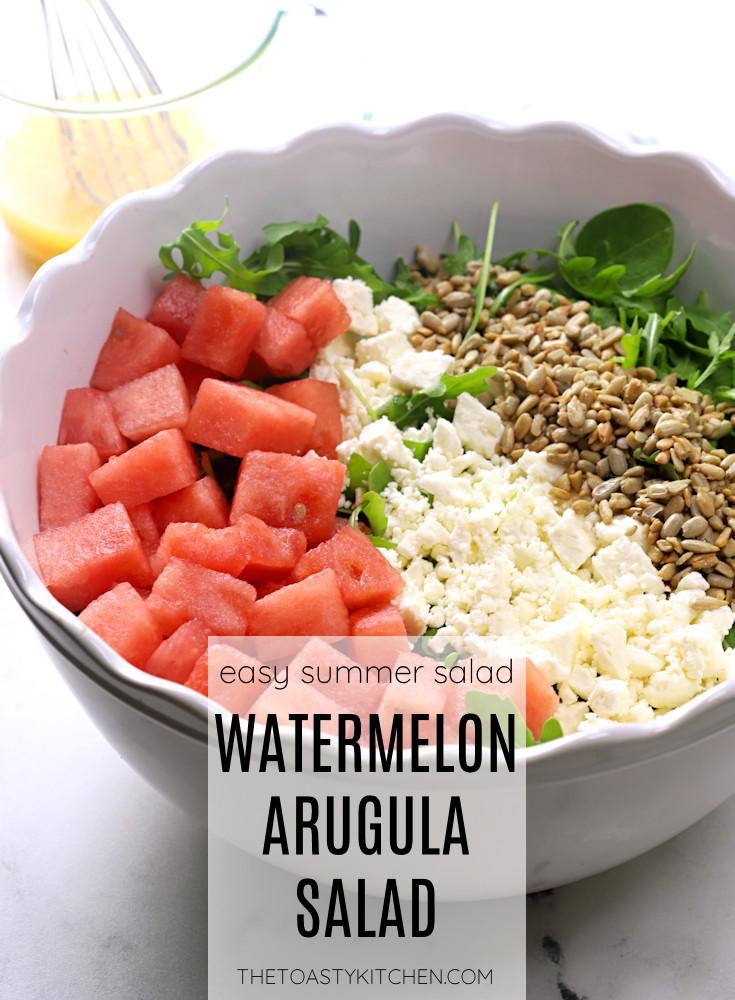 Arugula watermelon salad recipe.