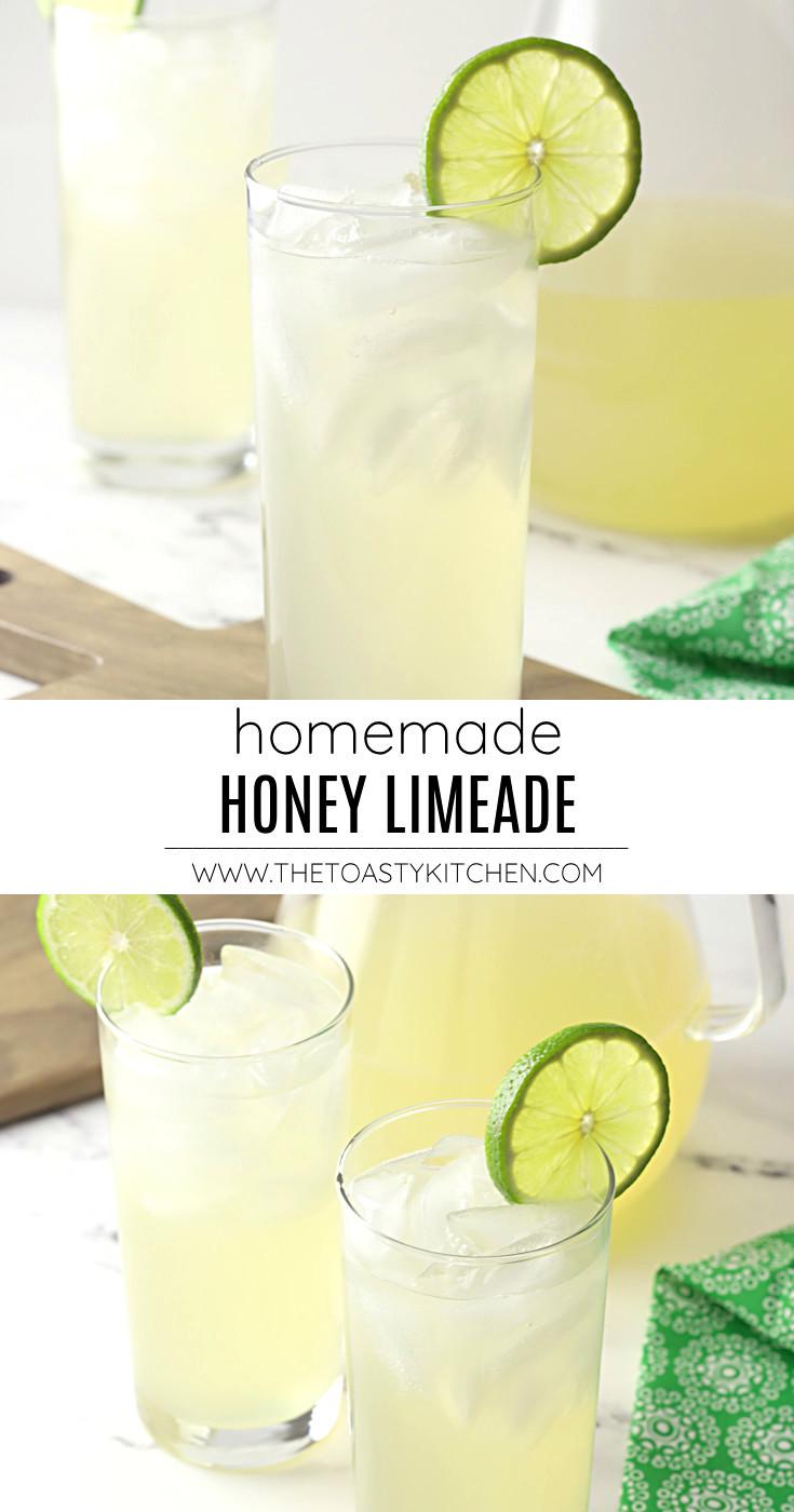 Homemade honey limeade recipe.