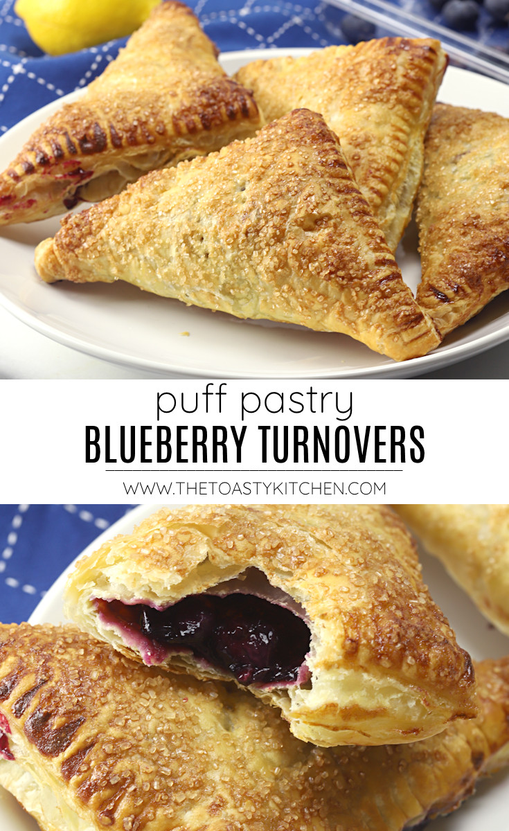 Puff pastry blueberry turnovers recipe.