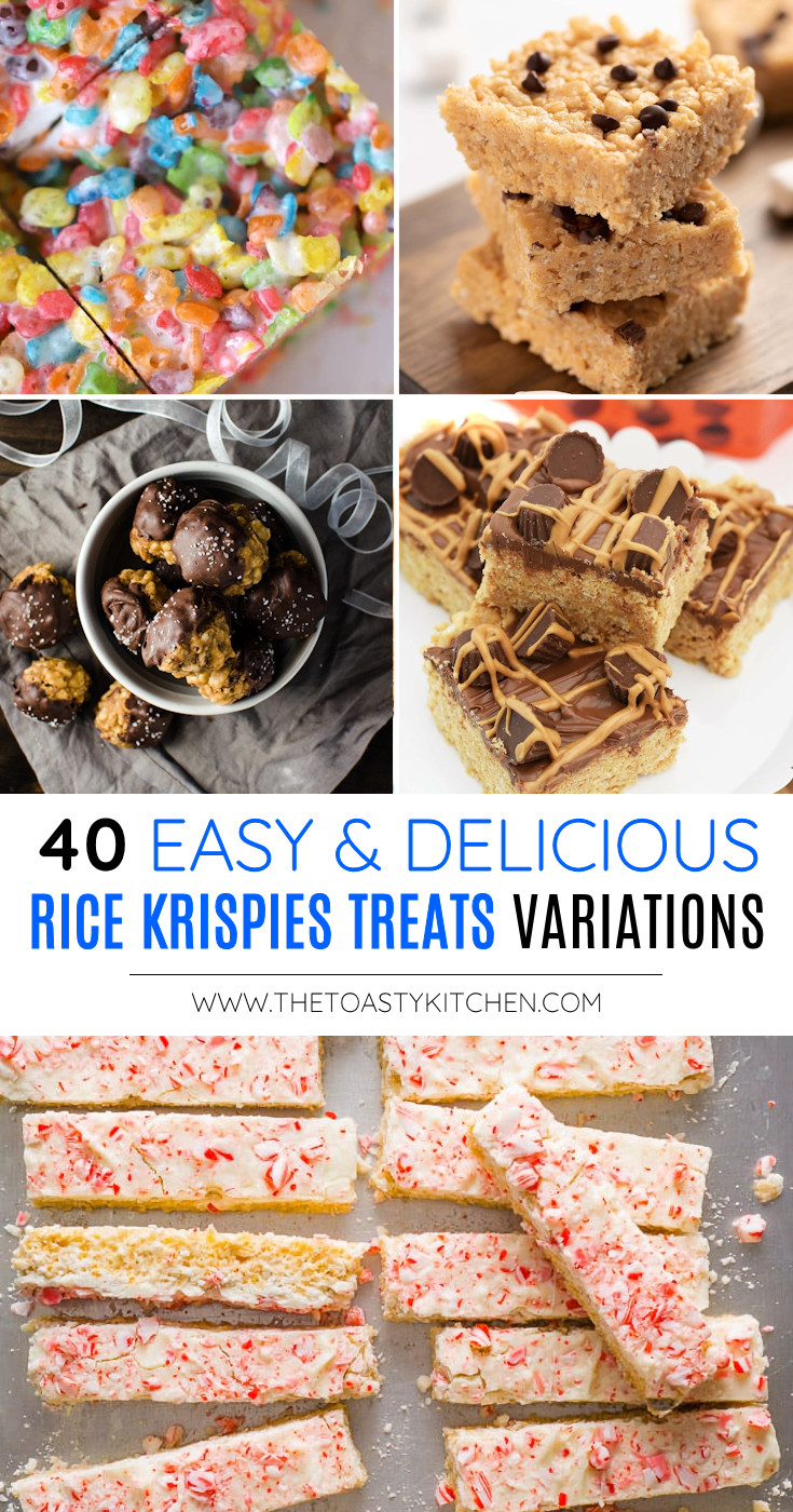 40 Rice Krispies Treats Variations - Recipe Roundup by The Toasty Kitchen