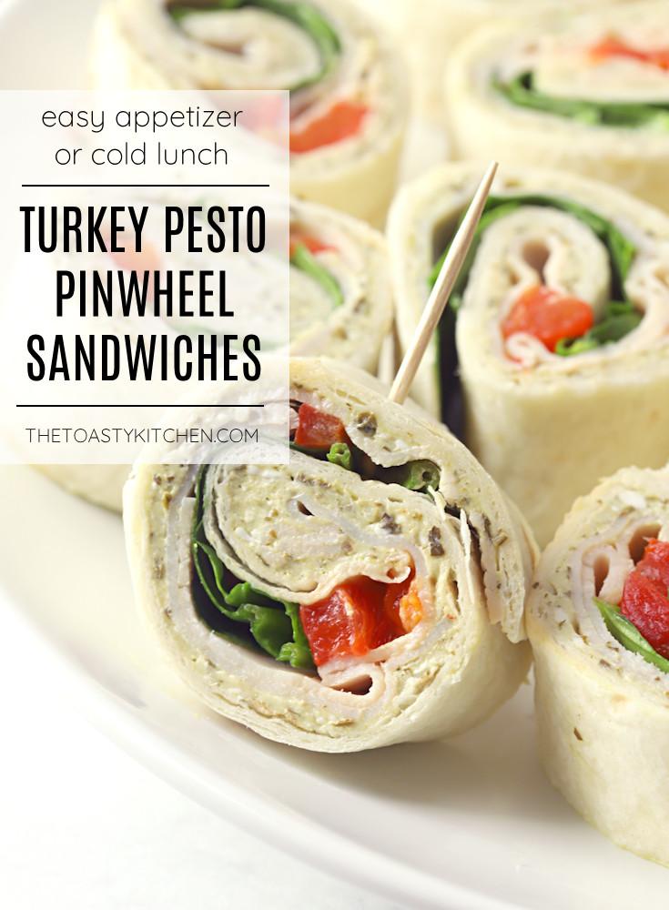 Turkey Pesto Pinwheel Sandwiches recipe.