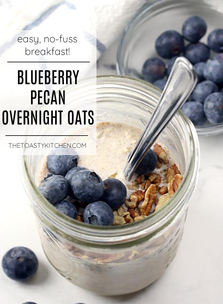 Blueberry pecan overnight oats recipe.