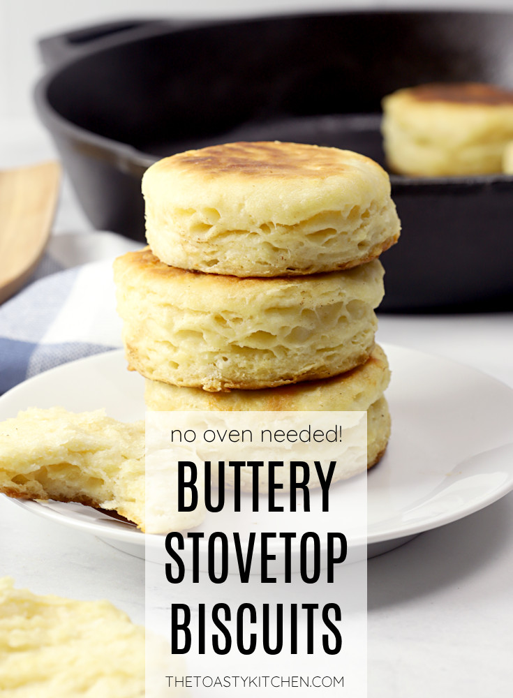Buttery stovetop biscuits recipe.